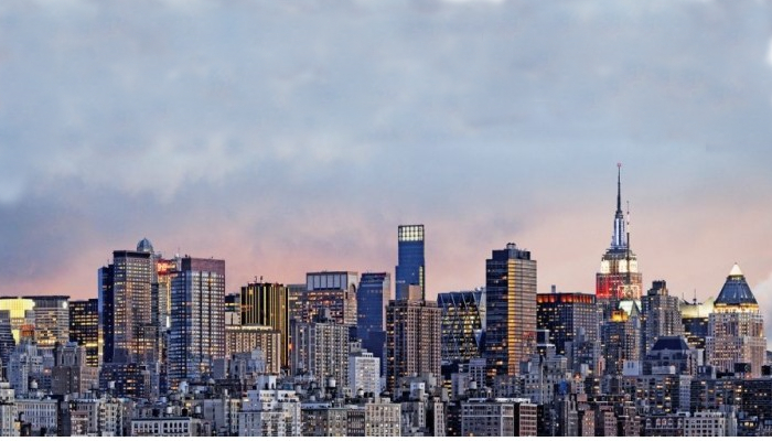 Fototapeta z drapaczami chmur w dużym mieście